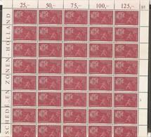1960 Lussemburgo Luxembourg X° ANNIVERSARIO DEL PIANO SCHUMAN Foglio Di 50 MNH** Sheet - Full Sheets