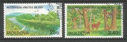Moldawien / Moldova 1999 Mi.Nr. 305 / 306 , EUROPA CEPT Natur- Und Nationalparks - Gestempelt / Fine Used / (o) - Europa-CEPT