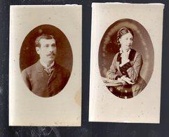 PHT6 Lot De  2 Photos Format CDV, Un Couple Fin 19éme, Photo Furst à Nantes 10 Rue Du Calvaire - Antiche (ante 1900)