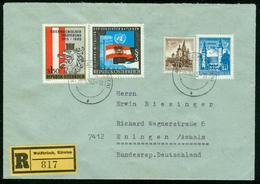 BR Austria Registered Cover Sent To Germany, BRD | Weißbriach 26.10.1965 - 1945-.... 2. Republik