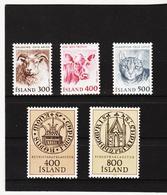 POL1819 ISLAND 1982  Michl 580/82 + 588/89 Postfrisch SIEHE ABBILDUNG - 1944-... Republik