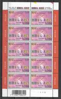 BELGIUM COB 3172 ** - Journée Du Timbre - Mail Art  - Feuillet De 10 Timbres - Panes