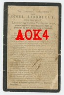 ODIEL LIBBRECHT KUURNE 1887 1917 Doodsprentje 08 Ardennes Sedan Zivilarbeiter ZAB - Images Religieuses