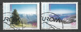 Makedonien 1999 Mi.Nr. 162 / 163 , EUROPA CEPT Natur- Und Nationalparks - Gestempelt / Fine Used / (o) - 1999