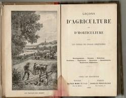 1897 Leçons D'AGRICULTURE Et D' HORTICULTURE Par Les Frères Des Ecoles Chrétiennes. Vendu En L'état. - Livres, BD, Revues