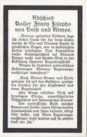 ABSCHIED KAISER FRANZ JOSEPHS VON VOLK UND ARMEE - Königshäuser