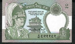 NEPAL P29b 2 RUPEES 1981 Signature 7 UNC. NO P.h. !! - Nepal