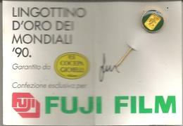 Mondiali Calcio Italia '90, Lingottino D'oro 1 Grammo Cocepa. - Calcio