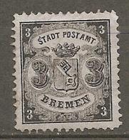 BREME -  Yv. N°11 Mi. 11  (*) 3gr  Noir S Azurén   Cote 100€  BE R  2 Scans - Bremen