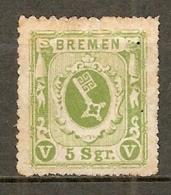 BREME -  Yv. N°4 Mi. 4  * 5gr  Vert   Cote 150€  BE R  2 Scans - Brême