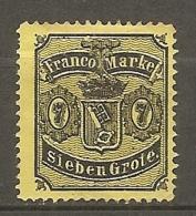 BREME -  Yv. N°13 Mi. 13  (*) 7gr  Noir S Jaune   Cote 190€  BE   2 Scans - Bremen
