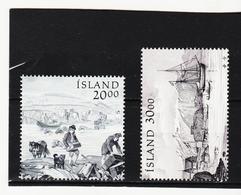 POL1826 ISLAND 1986/87  Michl 660 + 672 Postfrisch SIEHE ABBILDUNG - 1944-... Republik