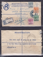 """Malaya BMA Registered Envelope(Type G) Dated 1947, """"E And O Hotel"""", Penang Cancellation To Australia - Malaysia (1964-...)"""