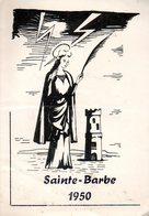 Menu École D'Artillerie Pour La Sainte Barbe 1950 - Menus