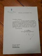 1953 - AUTOGRAFO GIANNI BARTOLI - SINDACO DI TRIESTE - Autografi