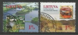 Litauen / Lietuva 1999 Mi.Nr. 693 / 694 , EUROPA CEPT - Natur-und Nationalparks - Gestempelt / Fine Used / (o) - 1999