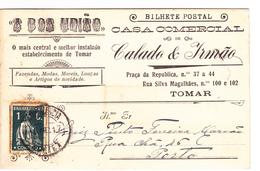 Portugal- Circulou DeTomar Para Porto Em 1917 - Portugal