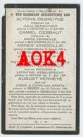 ZEEBRUGGE Kerk 1918 Doodsprentje Debruyne Debbaut Declerck Vancoillie Verheye Zusters Brugge Bombardement - Images Religieuses