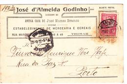 Portugal- Circulou DeTomar Para Porto Em 1922 - Portugal