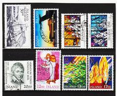 POL1825 ISLAND 1987  Michl 663/67 + 673 + 678/79 Gestempelt SIEHE ABBILDUNG - Gebraucht