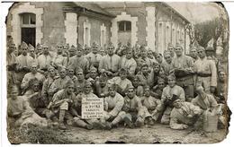 LAON 02 - CARTE PHOTO SOUVENIR Service Au 91ème R.I. Caserne Theremin D'Hame à LAON - Casernes