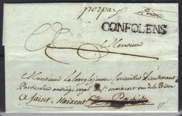"""Confolens : Lenain N°3 + """"porpay"""" Manuscrit Sur LAC, 1781, Signée V. Pothion. - Marcophilie (Lettres)"""