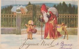 ***    Pere Noel Bonne Année écrite TB (petit Pli Angle) - Santa Claus
