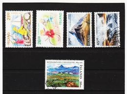 POL1827 ISLAND 1989  Michl 701/02 + 704/06 Gestempelt SIEHE ABBILDUNG - 1944-... Republik