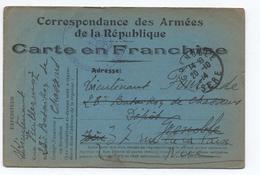 1914 - CARTE DE FRANCHISE MILITAIRE FM De GRENOBLE (ISERE) - Marcophilie (Lettres)