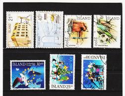 POL1828 ISLAND 1990  Michl 726/30 + 736/37 Gestempelt SIEHE ABBILDUNG - 1944-... Republik