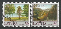 Lettland / Latija 1999 Mi.Nr. 496 / 497 , EUROPA CEPT - Natur-und Nationalparks - Gestempelt / Fine Used / (o) - Europa-CEPT
