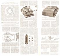 LES MACHINES à CRYPTOGRAPHIER  1923 - Technical