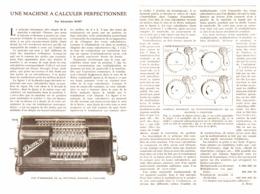 UNE MACHINE à CALCULER PERFECTINNEE ( La DEMOS )  1923 - Technical