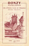 DOCUMENT DEPLIANT TOURISTIQUE 24 Pages De DONZY (Nièvre - 58) En 1954 Avec Plan Au Centre - Dépliants Touristiques