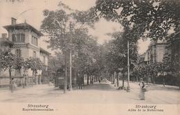Strasbourg Allée De La Robertsau Tramway  (scan Recto Et Verso) - Strasbourg