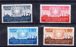 Serie Nº 725/8  Italia - 6. 1946-.. República