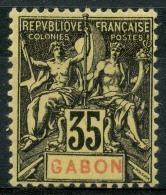 Gabon (1904) N 25 * (charniere) - Nuevos