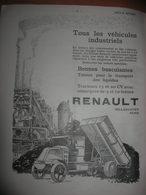 Février 1925 / Véhicule Industriel RENAULT / L'autobus électrique / Dans REVUE TECHNIQUE MENSUELLE ARTS & METIERS - Publicités