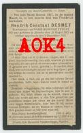 HENDRIK DESMET MARKE 1882 1917 Doodsprentje 54 Meurthe Moselle Pierrepont Zivilarbeiter ZAB 55 Meuse Bouligny Kortrijk - Images Religieuses
