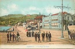 -dpts Div-ref-AJ156- Bouches Du Rhône - Marseille - Plage Du Prado - Arrieère Plan Tramways - Tramway - Transports - - Castellane, Prado, Menpenti, Rouet