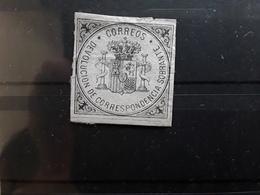 ESPAGNE / ESPANA / SPAIN / SPANIEN ,1875 RETOUR DEVOLUCION DE CORRESPONDENCIA , Noir / Azure BTB RARE! - Service