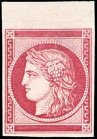 (*) Essai De Barre En Rouge. HdeF. SUP.(cote : 0) - 1849-1850 Cérès