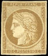 ** 10c. Bistre-brun. TB.(cote : 3250) - 1849-1850 Ceres