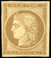 * 10c. Bistre. TB.(cote : 3000) - 1849-1850 Cérès