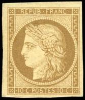 * 10c. Bistre-brun. Grandes Marges. SUP.(cote : 3250) - 1849-1850 Cérès