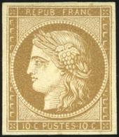 * 10c. Bistre-verdâtre. Très Frais. TB.(cote : 4000) - 1849-1850 Cérès