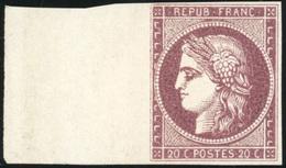 (*) Essai. 20c. Lie De Vin. BdeF. TB.(cote : 0) - 1849-1850 Ceres