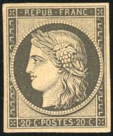* 20c. Noir. Réimpression 1862. TB.(cote : 500) - 1849-1850 Ceres