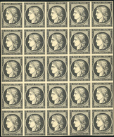 (*) 20c. Noir. Bloc De 25. SUP. R.(cote : 0) - 1849-1850 Cérès