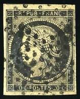 O 20c. Noir. Obl. étoile De Points. TB.(cote : 600) - 1849-1850 Ceres